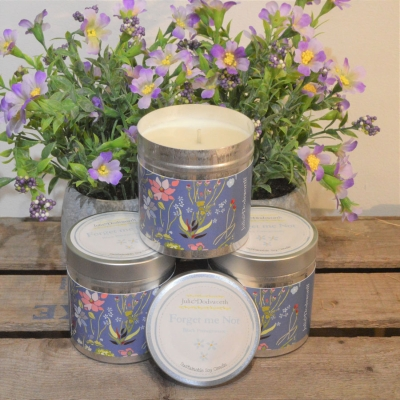Forget Me Not Tin Candle