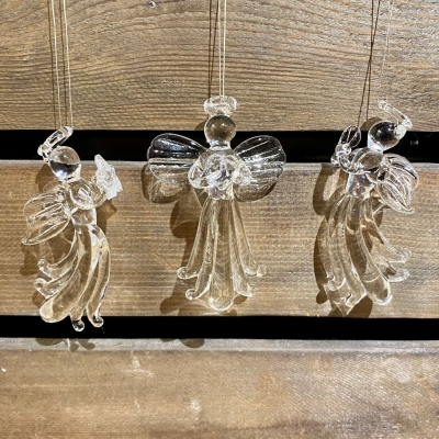 Glass Angels Set of 3