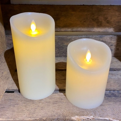LED Wax Candle with Flickering Flame
