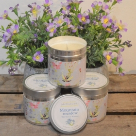 Mountain Meadow Tin Candle