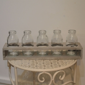 Mini Milk Bottle Display Rack